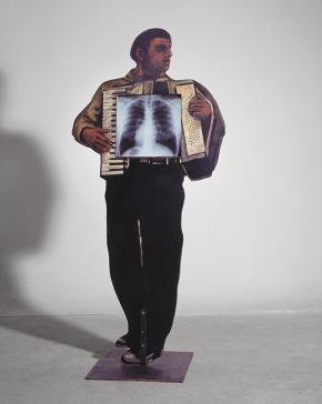 Μουσικός X-ray, εικαστική εγκατάσταση, Ιερά Οδός, 200x60x10 cm, 1999