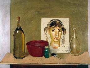 Ραχήλ, αυγοτέμπερα σε ξύλο, 50x70, 1977