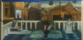 Wilhelm Reich, ακρυλικό σε καμβά, 200x100 cm, 1973